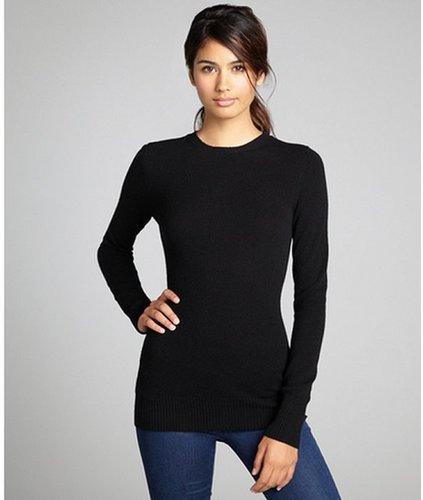 Hayden black cashmere knit crewneck sweater