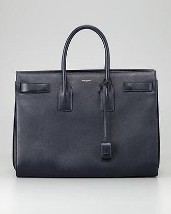 Saint Laurent Sac de Jour Large Carryall Bag, Dark Blue