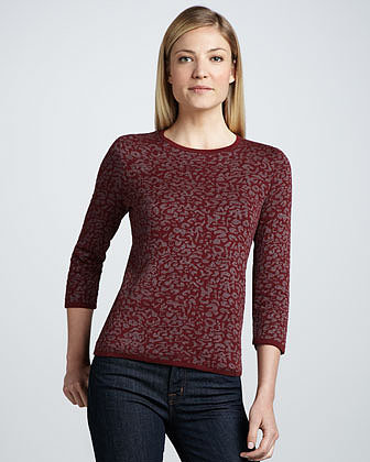 Belford Shimmery Animal Jacquard Sweater