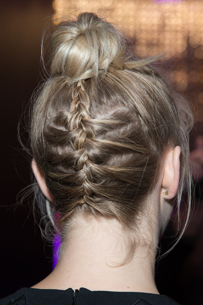 Julianne Hough showed a fun way to incorporate a braid in an unexpected style.