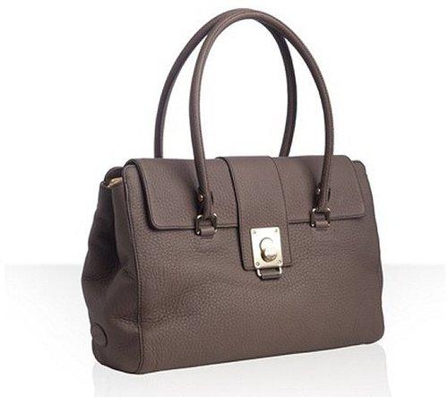 Tod's  seal brown leather 'Fleur' media shoulder bag
