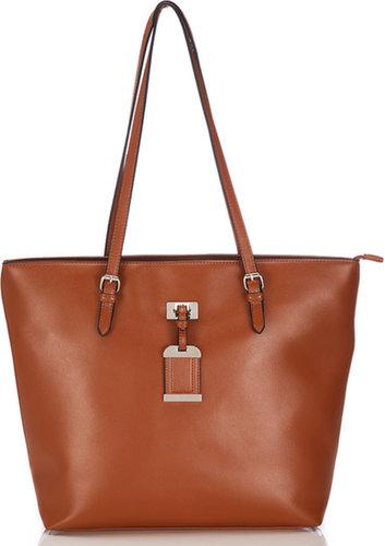 Tan Large Shoulder Bag