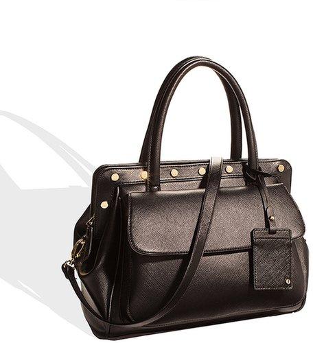 Stud Trim Satchel Bag