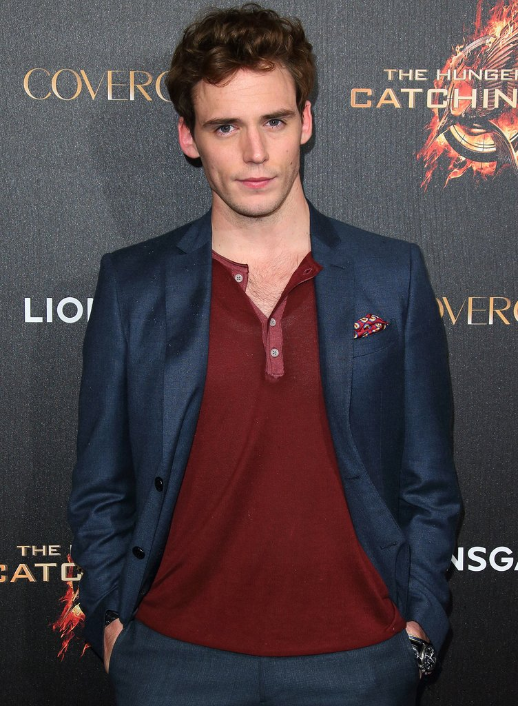 Sam Claflin Claflin is about to experience a boost in recognition this Fall when Catching Fire comes out — he plays the sexy, flirty, shirtless Finnick, who's not necessarily trustworthy at first. Sound like another literary character to you?