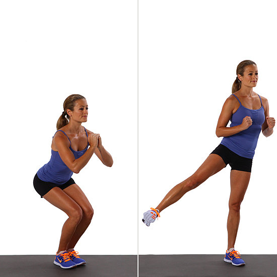 lift the leg up: