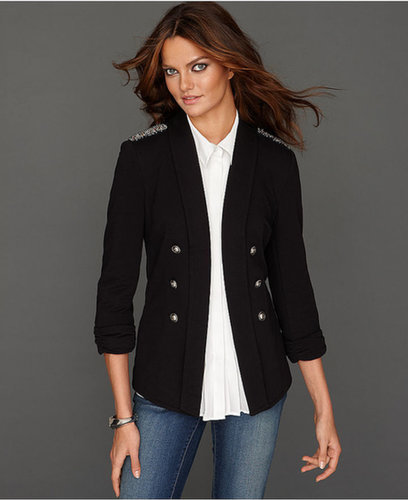 INC International Concepts Jacket, Beaded Long Blazer