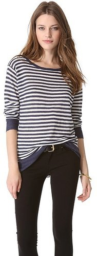 Nili lotan Crew Neck Stripe Sweater