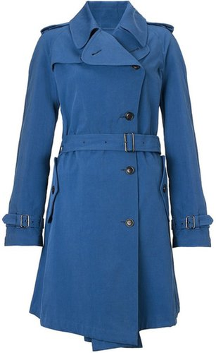 Wunderkind Blue Cotton Trench Coat