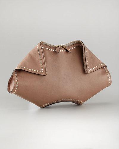 Alexander McQueen De-Manta Studded Clutch Bag
