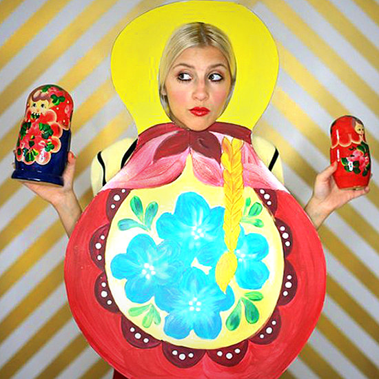 DIY Russian Doll Halloween Costume