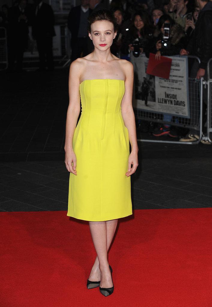 Carey Mulligan in Yellow Dior Dress
