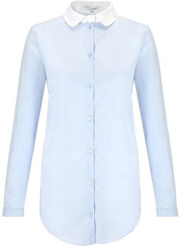 Carven Blue Cotton Oxford Shirt