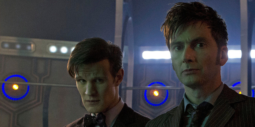 Three Doctors Meet! First Look at Doctor Who 50th Anniversary Episode