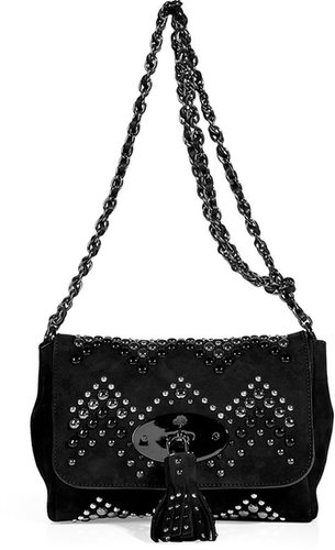 Mulberry Black Suede Zigzag Lily Bag