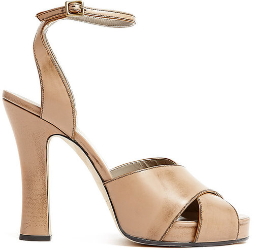 Marc Jacobs Tan Ankle Strap Sandals