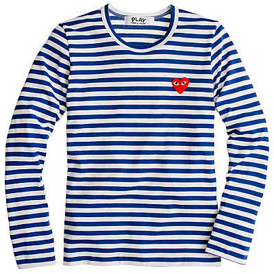 PLAY Comme des Garcons® stripe heart tee