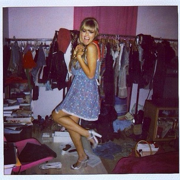 Proof that there once was a time when Atlanta de Cadenet was a blonde with bangs! Source: Instagram user atlantabean