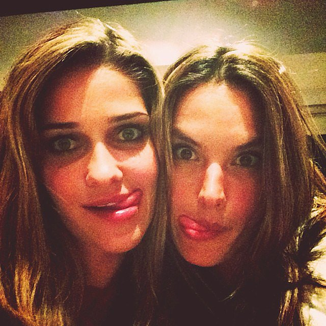 Alessandra Ambrosio and her BFF Ana Beatriz Barros made funny faces for the camera. Source: Instagram user alessandraambrosio
