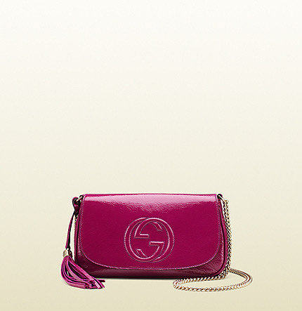 Soho Patent Leather Shoulder Bag