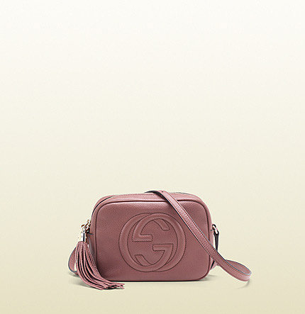 Soho Dark Pink Leather Disco Bag