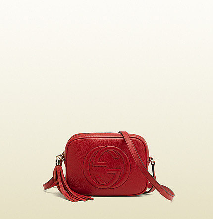 Soho Red Leather Disco Bag