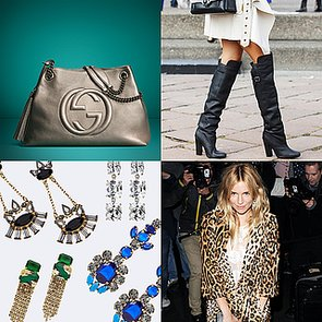 Gucci Handbags, Over-the-Knee Boots, and Statement Earrings