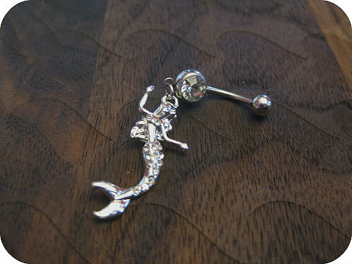 [grhmf22000002]Sexy Mermaid Crystal Rhinestones Belly Button Ring