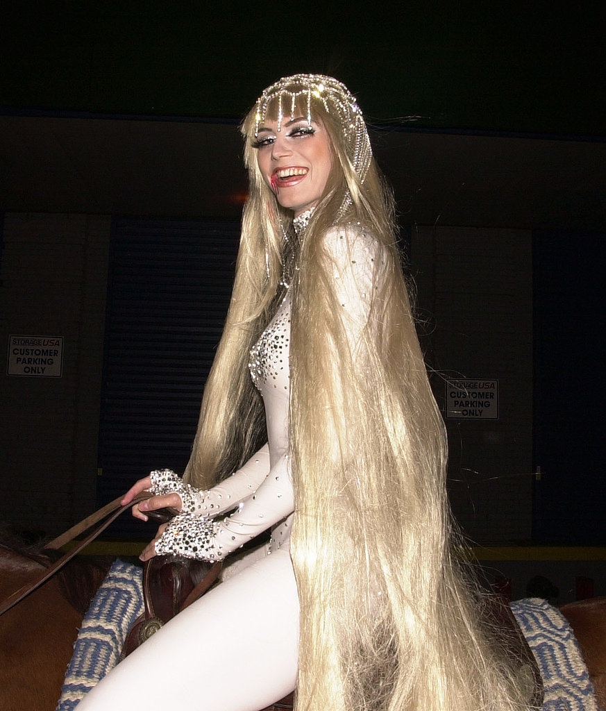 Complete with a horse, long flowing locks, and a hint of blood, Heidi made for a slightly gory version of Lady Godiva in 2001.