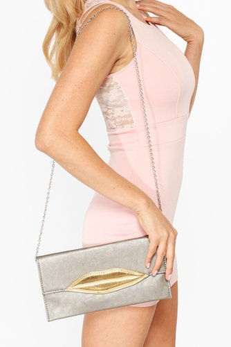Golden Kiss Fold Over Clutch