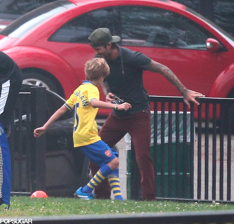 David Beckham and Cruz played soccer together.
