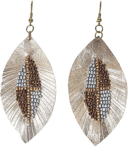Gypsy SOULE - Beaded Fringe Earrings (Gold) - Jewelry