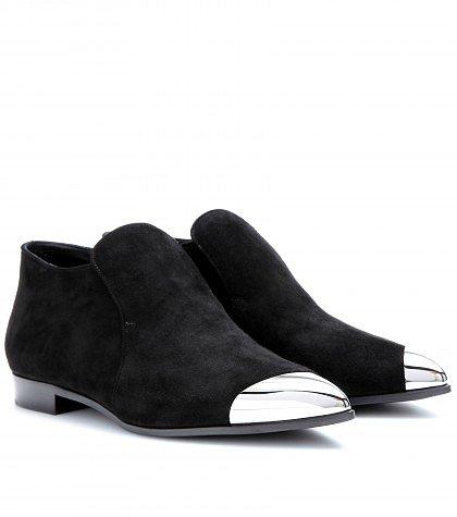 Miu Miu - Suede ankle boots