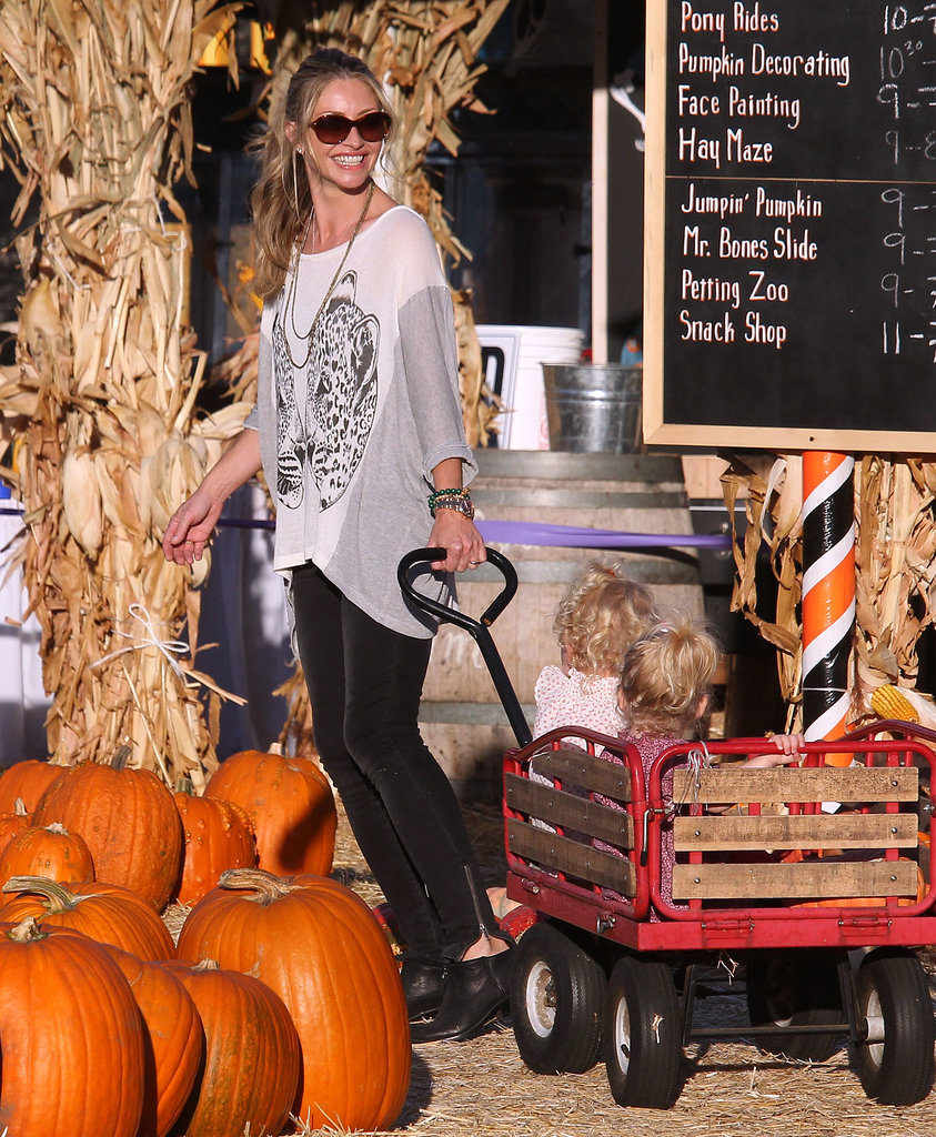 Rebecca Gayheart pulled her little ones in a wagon in LA.