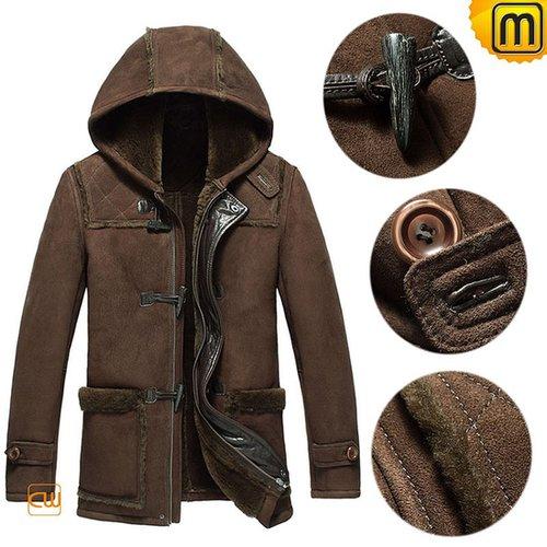 Men Sheepskin Winter Jacket with Hood CW877398