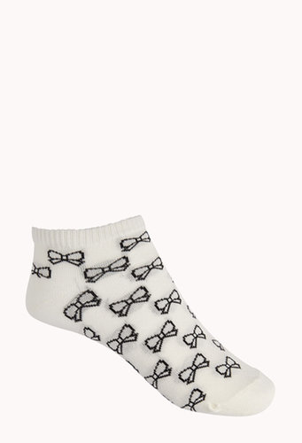FOREVER 21 Bow Ankle Socks