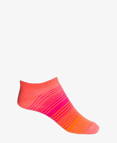 FOREVER 21 Multi-Striped Ankle Socks