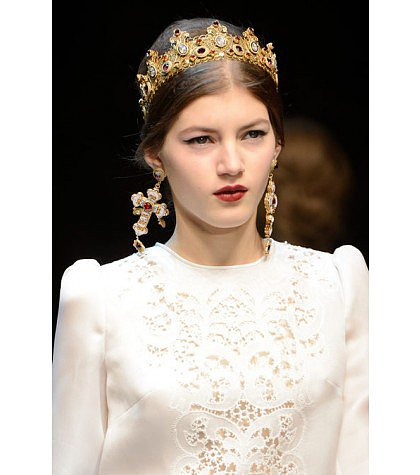 Dolce & Gabbana - Gold-plated Swarovski crystal crown
