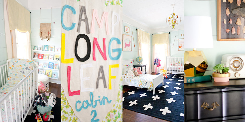 A Stylish Camp-Themed Shared Space For 2 Lucky Girls