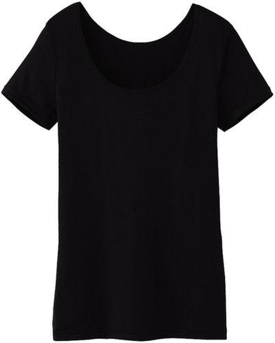 Women Heattech Scoop Neck T-Shirt (Short Sleeve)