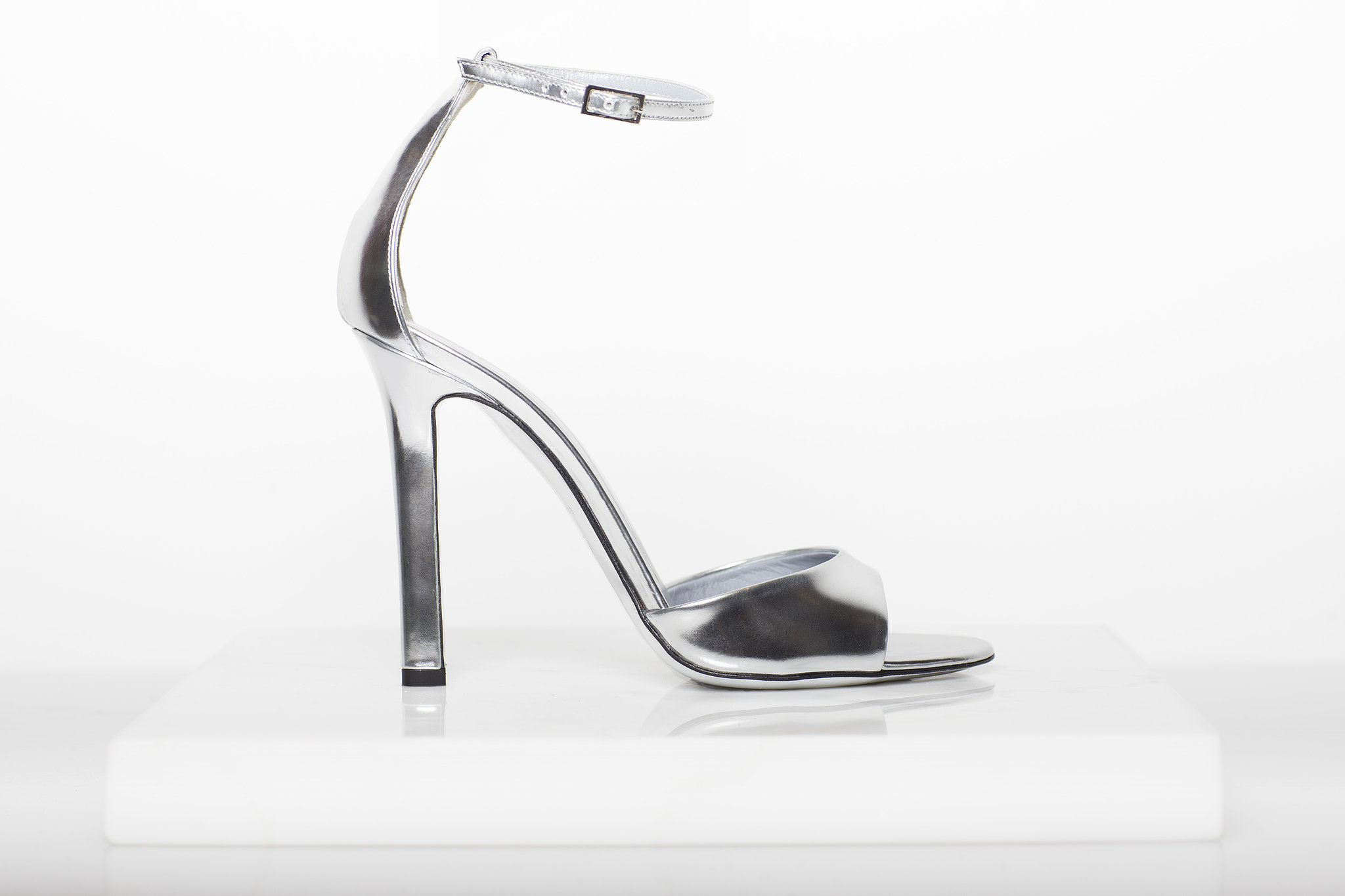 Whisper Sandal in Specchio ($650) Photo courtesy of Tamara Mellon