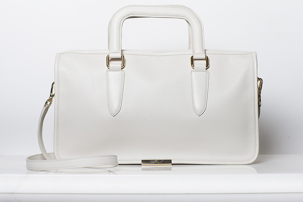 Diglam Nappa Satchel in Cream ($895) Photo courtesy of Tamara Mellon