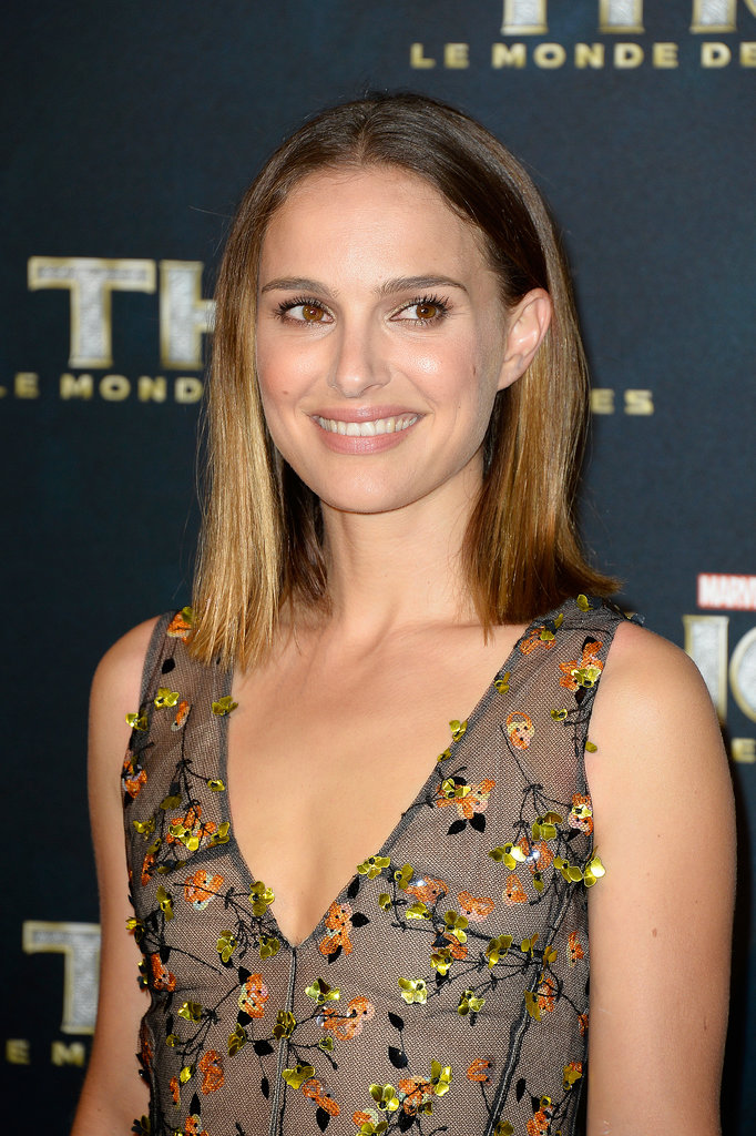 Natalie Portman posed for photos at the Paris premiere of Thor: The Dark World on Wednesday.
