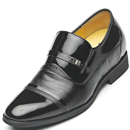 Black / Brown Men Height Inceasing Dress Shoes get height 7cm / 2.75inch