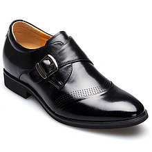 Black / Brown Men Height Inceasing Dress Shoes extra height 7cm / 2.75inch