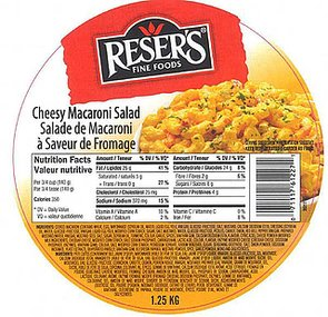 Reser's Recalls 109,000 Cases of Ready-to-Eat Products