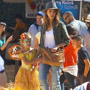Celebrity Kids in Pumpkin Patches