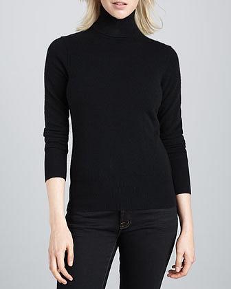 Neiman Marcus Cashmere Long-Sleeve Turtleneck, Women's