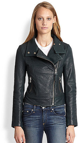 Mackage Lisa Pebbled Leather Motorcycle Jacket
