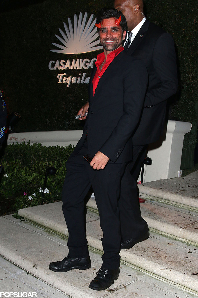 John Stamos looked devilishly handsome as a demon at the Casamigos Halloween Party.