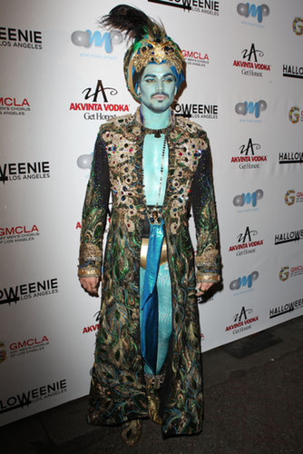 Adam Lambert dressed as a genie for an event benefitting the Gay Men's Chorus of LA in 2013.